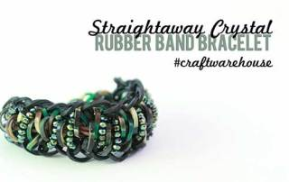 Straightaway Crystal Rubber Band Bracelet