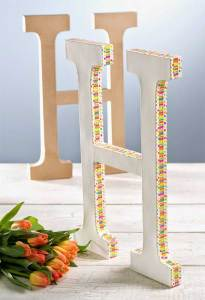 Diy Paper Mache Washi Tape Monogram