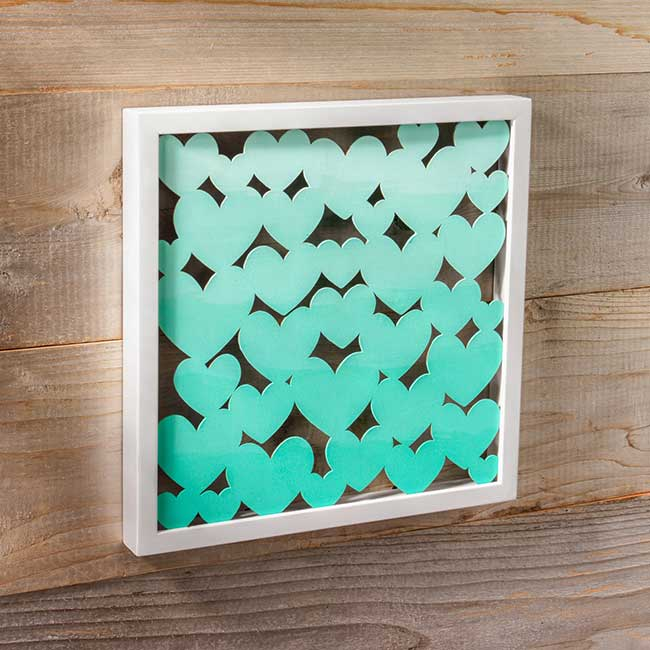Ombré Heart DIY Shadow Box
