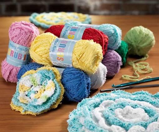Scrub It Cotton Fringed Dishcloth Yarn