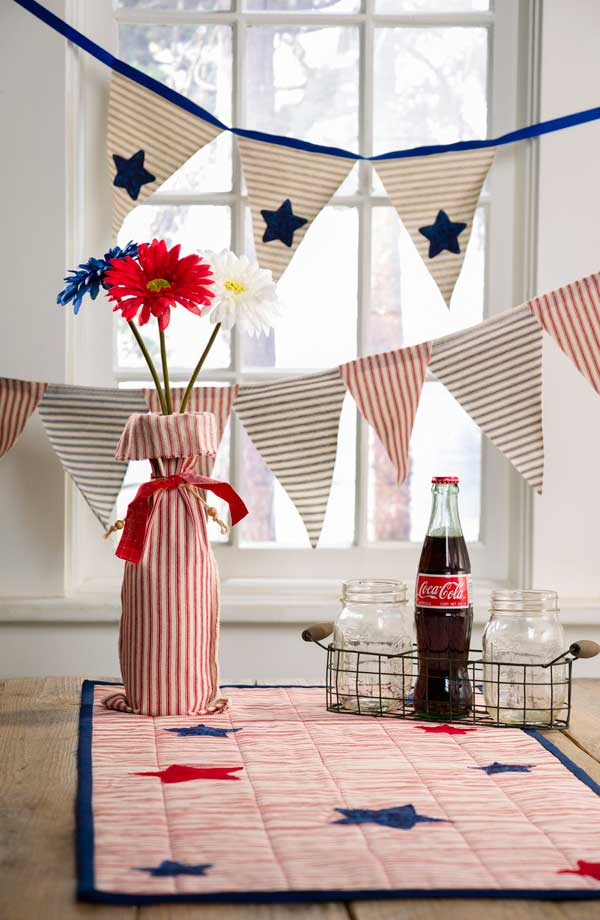 4th of July DIY Patriotic Table Runner