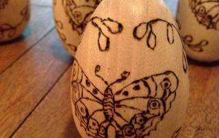 Wood Burning Easter Eggs