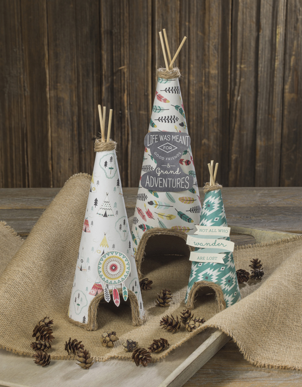 Paper ache Mini Teepees