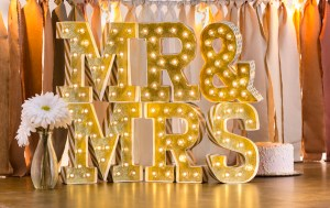 Mr. and Mrs Heidi Swapp Marquee Love Marquee Lights