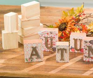 Autumn Wood Blocks