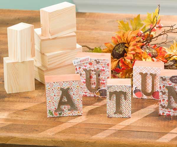 Autumn Wood Blocks