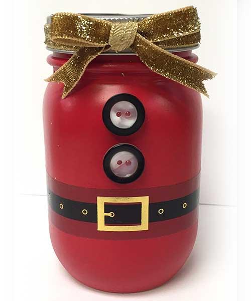 Santa Belt Mason Jar