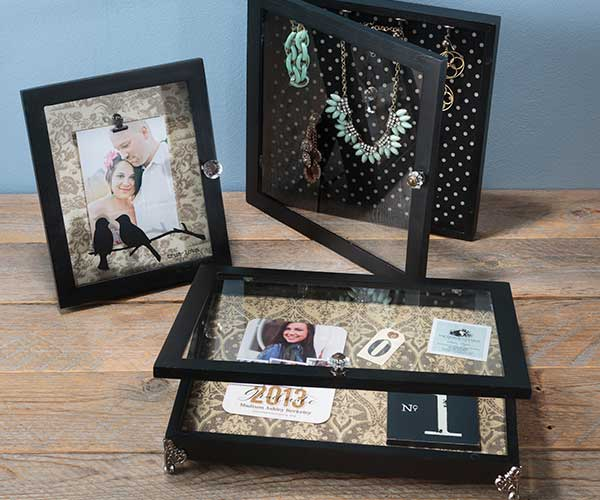 Black Hinged-Door Shadow Boxes