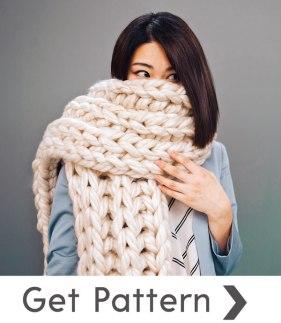 3 Sisters chunky yarn scarf pattern