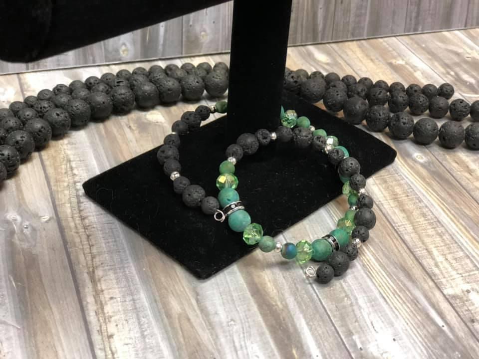 St. Patrick's Day Lava Bracelet