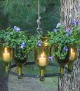 Create a chandelier with Kinkajou bottle cutter