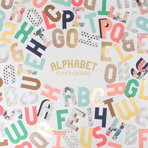 Alphabet Punch Board WE R