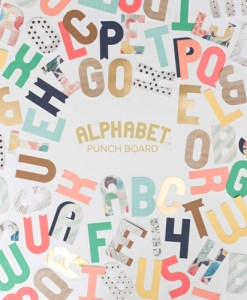 Alphabet Punch Board WE R