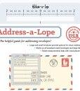 Address-a-Lope Envelope Adresser Letter Mate Template Stencil