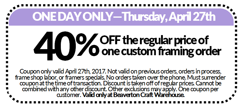 Spring Savings Thursday Coupon @ Beaverton Location | Beaverton | Oregon | United States