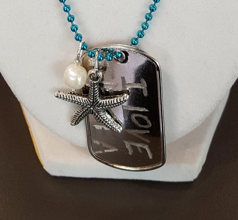 Engraved Dog Tag Necklace @ Craft Warehouse @ Gresham Station | Gresham | Oregon | United States