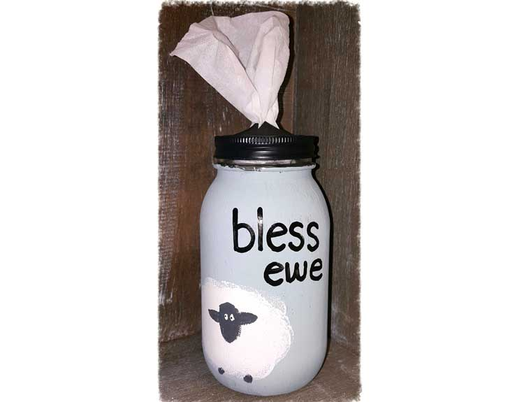 """Bless Ewe"" Tissue Holder @ Meridian Location 