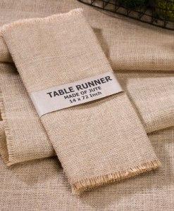 Burlap Table Runner