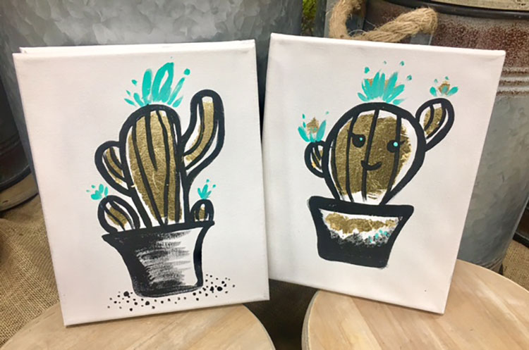 Gold Leaf Cactus Wall Art @ Hazel Dell Location | Vancouver | Washington | United States