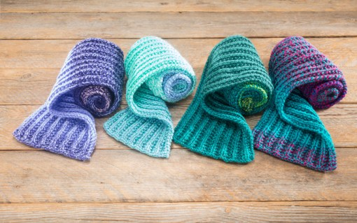 Candy Shop Ribbed Scarf Pattern by Craft Warehouse