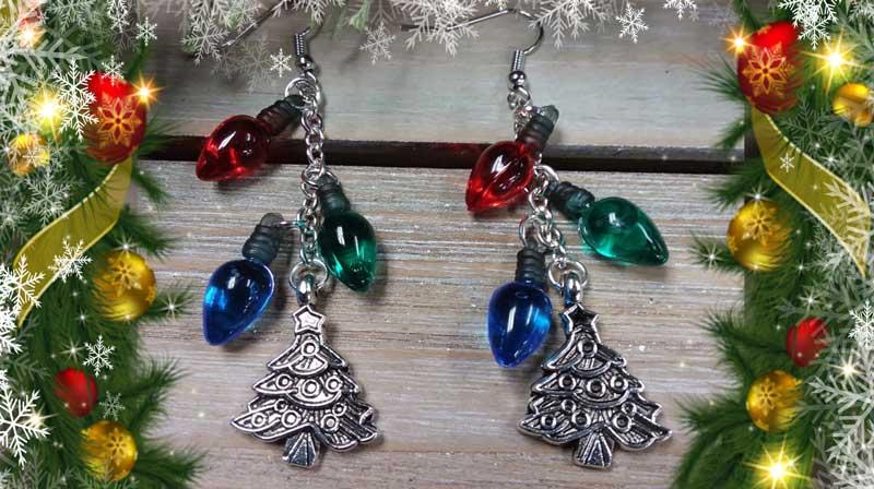 Christmas Light Earrings Make & Take