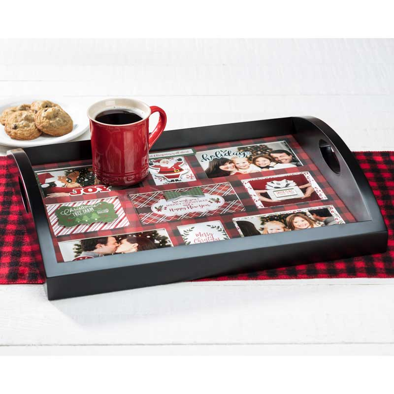 Make this Christmas Photo Collage Tray