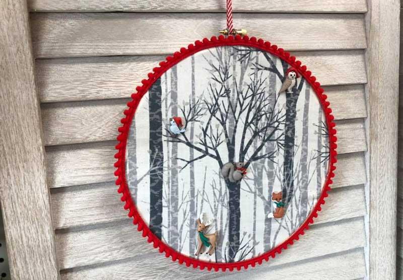 Christmas Woodland Holiday Wreath