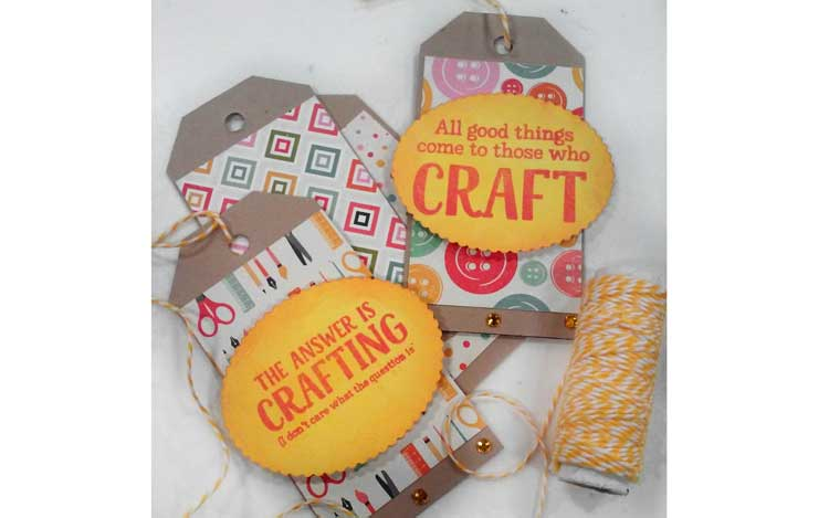 Crafty Card Stock Tag Make and Take @ Beaverton Location | Beaverton | Oregon | United States