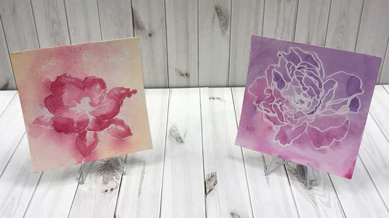 Embossed Flower Watercolor Resist @ Salem Location | Salem | Oregon | United States