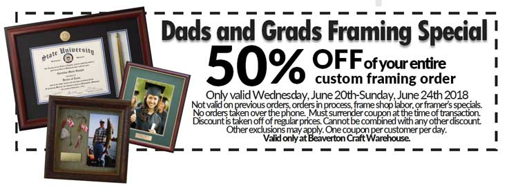 Dads and Grads Framing Special @ Beaverton Location | Beaverton | Oregon | United States