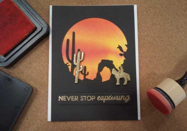 Desert Sunset Card @ Bearverton Location | Beaverton | Oregon | United States