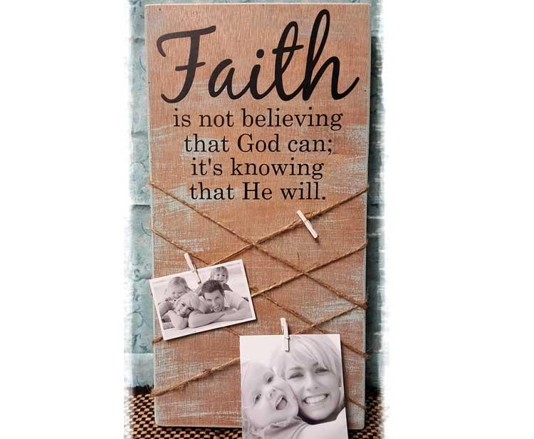 Faith Picture Plaque @ Meridian Location | Meridian | Idaho | United States