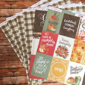 Scrapbook photoplay paper falling leaves