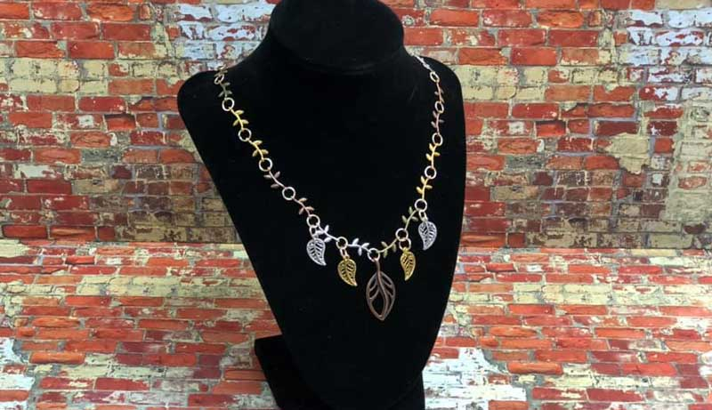 Jewelry Workshop - Filigree Leaf & Twig Necklace