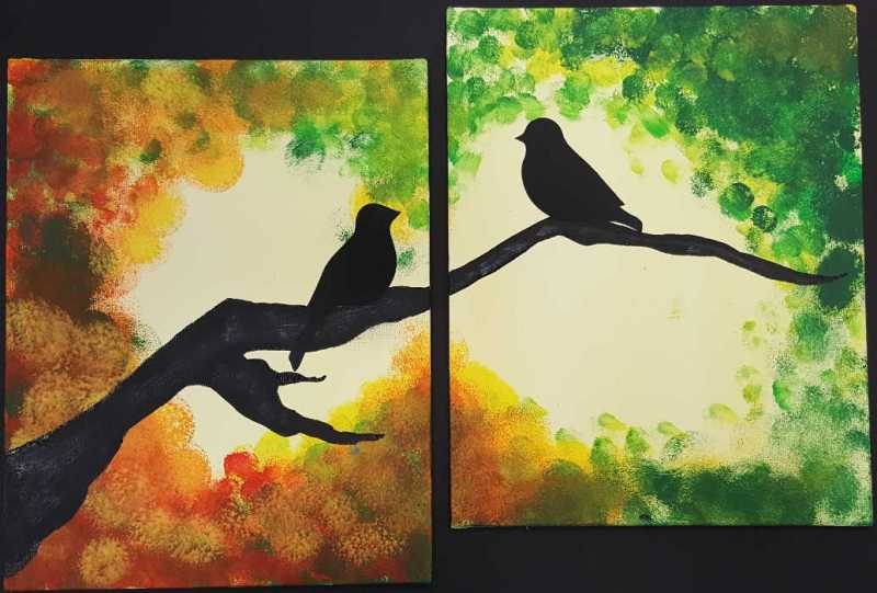 Paired Canvas Art @ Craft Warehouse @ Gresham Station | Gresham | Oregon | United States