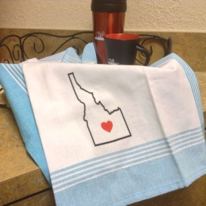 cotton kitchen towel idaho state