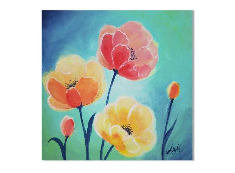 Paint Night: In Full Bloom @ Craft Warehouse @ Gresham Station | Gresham | Oregon | United States
