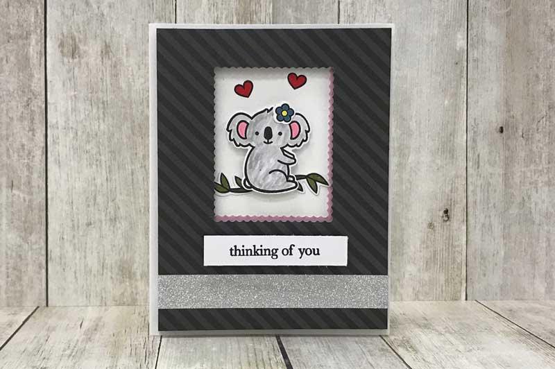 """""""Thinking of You"""" Koala Bear Card"""
