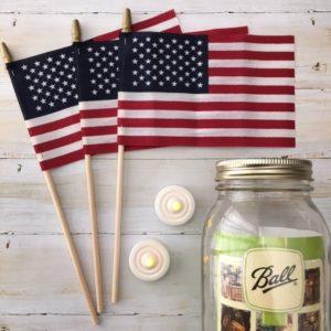 Mason Jar Flag Candle Holder DIY
