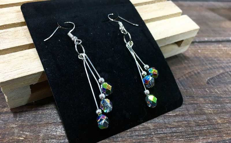 Metallic Ice Drop Earrings