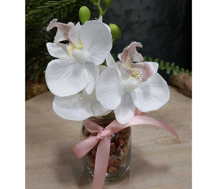 Mini jar with Orchid @ Hazel Dell Location | Vancouver | Washington | United States