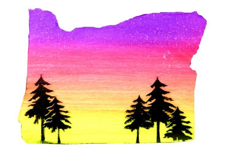 Oregon Sunset Mixed Media Painting @ Beaverton Location | Beaverton | Oregon | United States