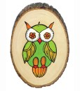 Wood burned owl on wood slice made with Versa Wood Burning Tool