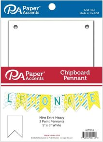 Paper Accents 5x8 Chipboard Pennant Set