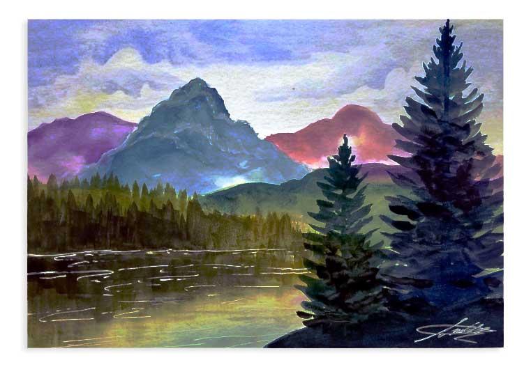 Paint Night: Lakeside Serenity @ Craft Warehouse @ Gresham Station | Gresham | Oregon | United States