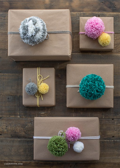 Make pom poms for gifts