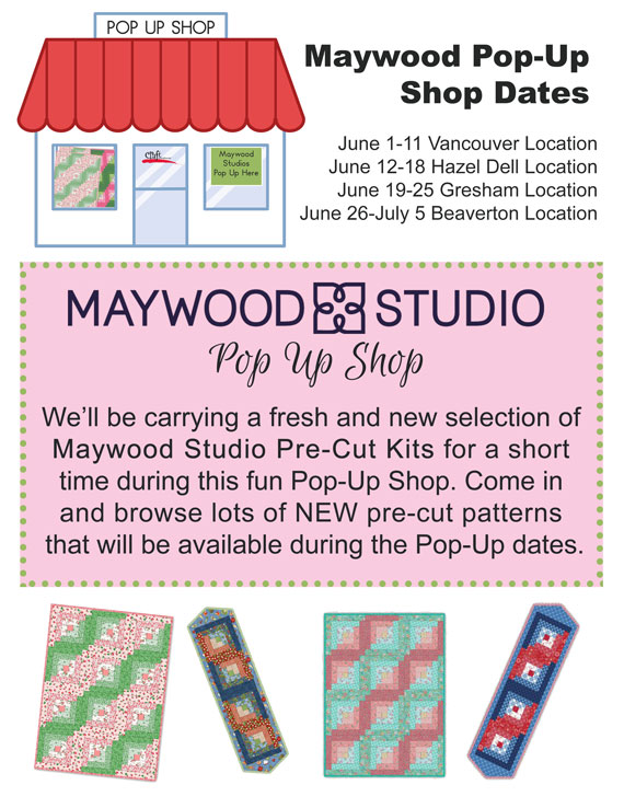 Maywood Studios Pop Up Shop at Craft Warehouse
