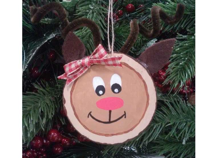 Reindeer Wood Tag Ornament @ Beaverton Location | Beaverton | Oregon | United States