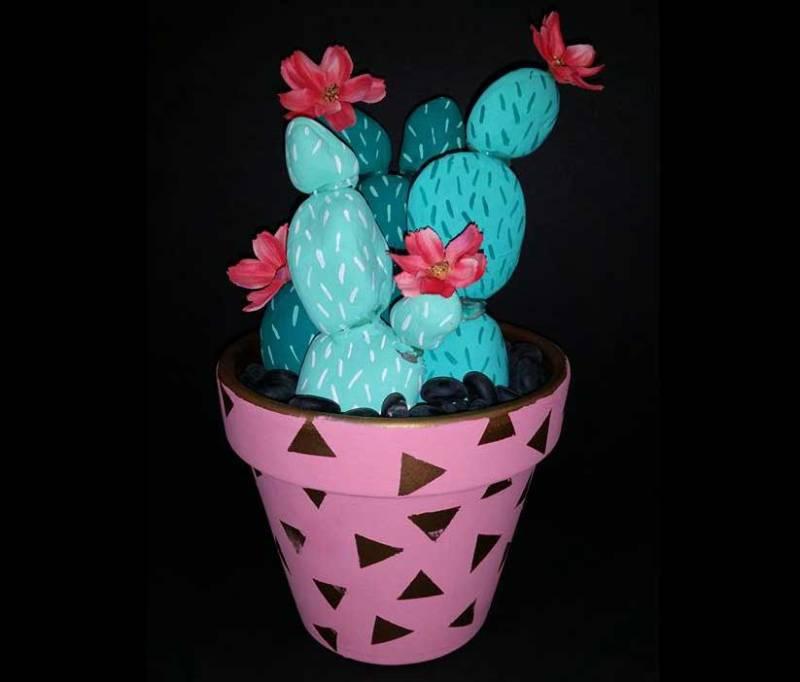 Mini Painted Rock Cactus @ Medford Location | Medford | Oregon | United States
