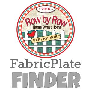 Row by Row Fabric Plates